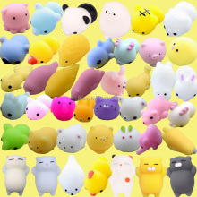 купить 30pcs/pack Kawaii Squishes Mochi Cat Squishy Antistress Soft Rubber Food Animals Squeeze Shark Slow Rising Squishies Funny Toys в интернет-магазине