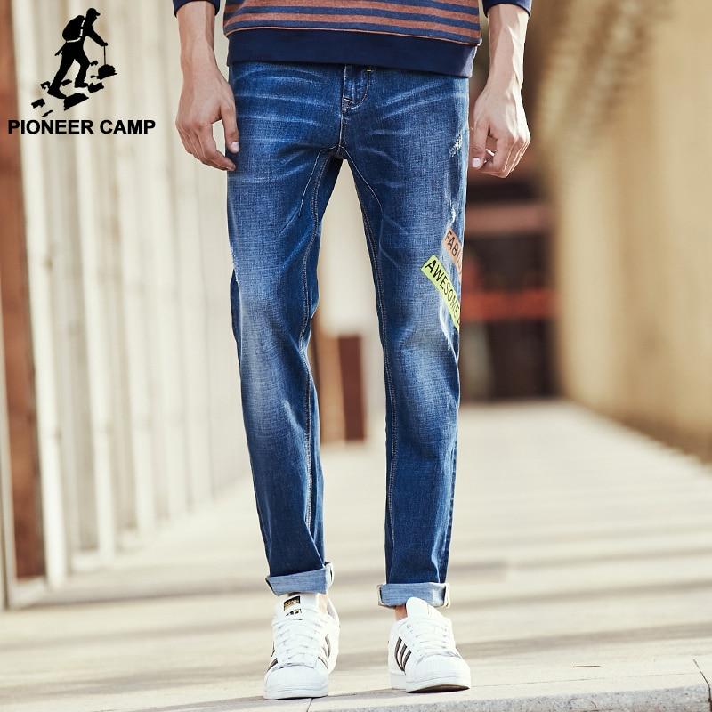 ФОТО Pioneer Camp Spring autumn jeans for men brand clothing fashion male denim trousers top quality elastic men denim pants 611042