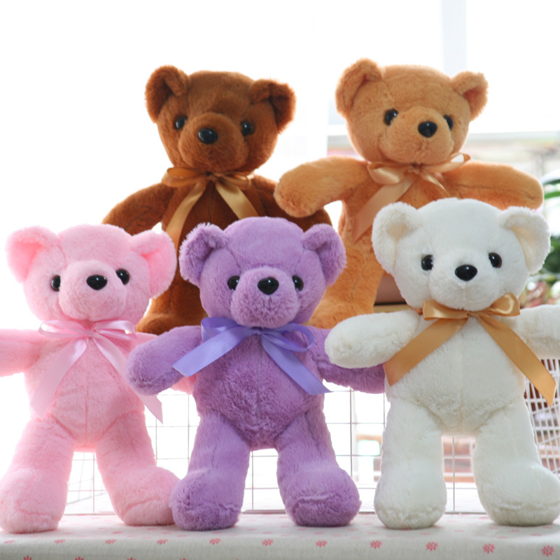 Nooer 35cm Kawaii Teddy Bear Stuffed Plush Toys For Children Plush Bear Animals Kids Doll Baby Gift Children's Day Gift 4pk ce310a ce311a ce312a ce313a compatible color toner cartridge 126a for hp laserjet cp1025 cp1025nw m275mfp m175a m175nw