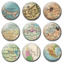 Syracuse Map 30 MM Fridge Magnet Liverpool Solvay Glass Cabochon Magnetic Refrigerator Stickers Note Holder Home Decoration