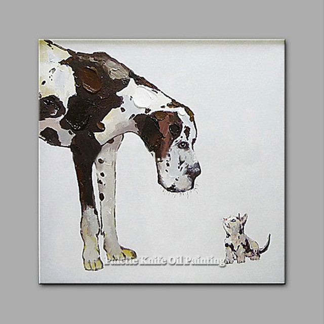 Dog painting On Canvas Wall art Picture For Living Room home decor Pop art dog modern abstract hand painted animal wall decor144