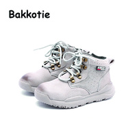 Bakkotie Winter Fashion British Style Baby Boy Short Boots Genuine Leather Child Ankle Boots Kid Brand Toddler Shoe Cross-tied