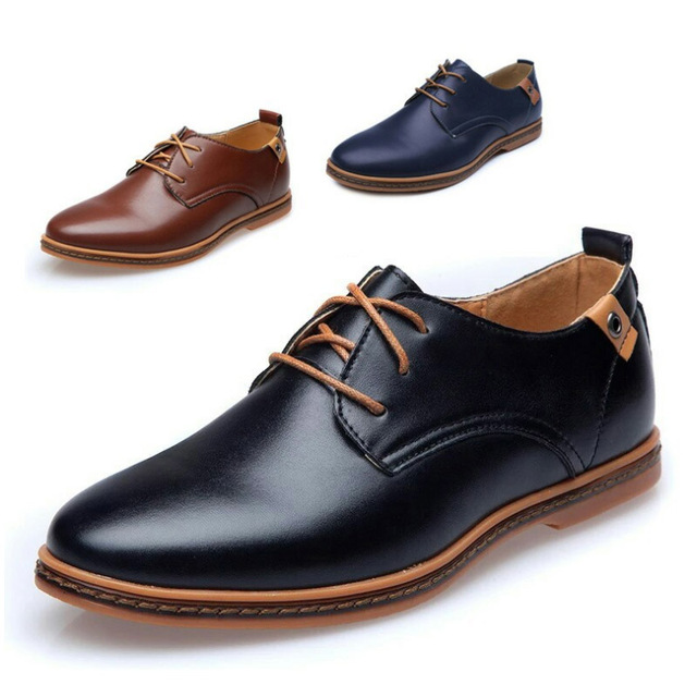 cb35dcc738 US $12.91 41% OFF|Aliexpress.com : Buy Men Casual Shoes 2019 New PU Men  Leather Shoes Fashion Loafers Round Toe Men Flats Shoes Comfortable Men  Shoes ...