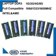 Kembona sodimm оперативной памяти ноутбука DDR3 2 ГБ 4 ГБ 8 ГБ DDR3 PC3 8500 1066 мГц DDR3 PC3 10600 1333 мГц DDR3 PC3 12800 1600 мГц 204pin