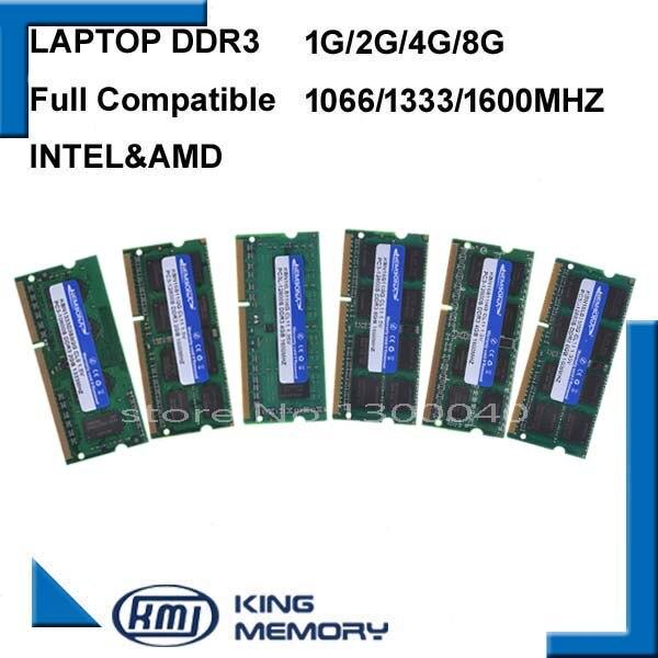 KEMBONA Sodimm Ram Mémoire ORDINATEUR PORTABLE DDR3 2 GO 4GB 8GB DDR3 PC3 8500 1066MHz DDR3 PC3 10600 1333Mhz DDR3 PC3 12800 1600MHz 204pin