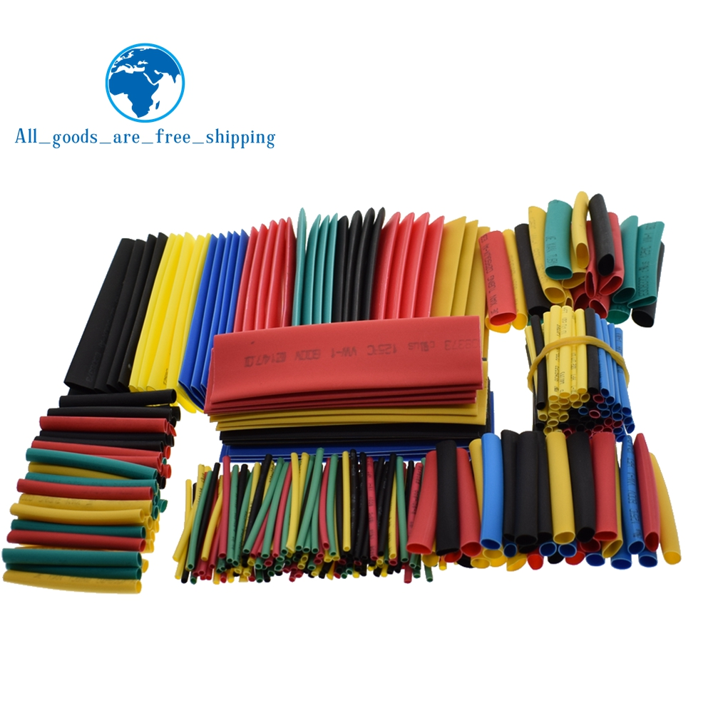 328pcs Heat Shrink Tubing Insulation Shrinkable Tube Assortment 2:1 Heat Shrink Tubing Colorful Wrap Wire Cable Sleeve DIY Kit(China)