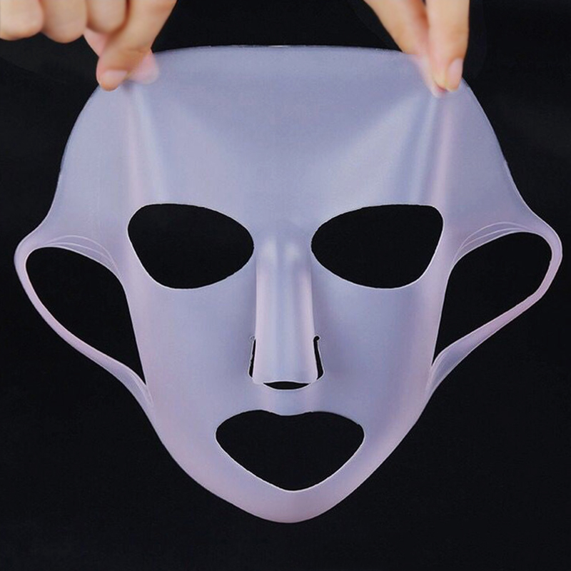 1pcs Reusable Silicone Mask Cover Skin Care Hydrating Tools Face Locking Water Moisturizing Mask Women Beauty Face Care Tool