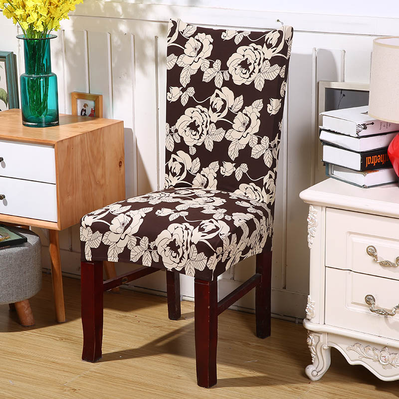 Floral Printing Spandex Chair Cover Dining Chair Cover for Wedding Party Office Restaurant Hotel Home Dinner Patio Furniture
