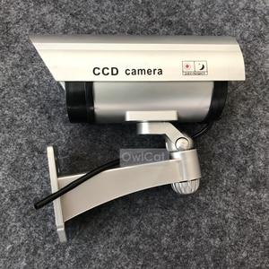 Image 5 - 2 PC Realistische Aussehen Dummy CCTV Sicherheit Kameras Gefälschte Kugel Kamera Im Freien Blinkt IR LED Überwachung Emulational Kamera