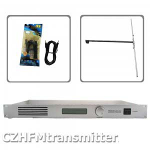 <font><b>50W</b></font> CZH CZE-T501 <font><b>FM</b></font> <font><b>transmitter</b></font> 0-<font><b>50w</b></font> power adjustable radio broadcaster RDS port DP100 1/2 DIPOLE ANTENNA kit image