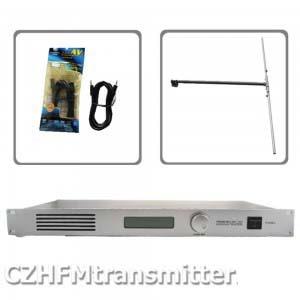50 W CZH CZE-T501 FM émetteur 0-50 w puissance radiodiffuseur réglable RDS port 1/2 DIPÔLE ANTENNE kit