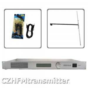 50 W CZH CZE-T501 trasmettitore FM 0-50 w di potenza regolabile emittente radiofonica RDS porta 1/2 DIPOLO ANTENNA kit