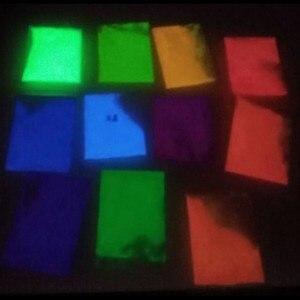 Image 4 - 12 색 패션 슈퍼 밝은 글로우 다크 파우더 글로우 빛나는 안료 형광 파우더 밝은 색 분말 10 그램/가방/가방