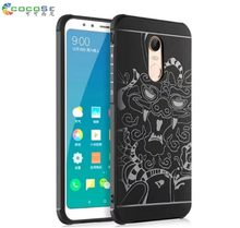 3D Carved Dragon Anti-knock Soft TPU Silicone Shockproof Armor Case Cover for Xiaomi Redmi 5 Plus Phone shell(China)
