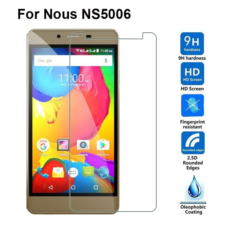 """Härdat glas Nous NS5006 skärmskydd Ultra Clear LCD 9H 2.5D Explosionssäker LCD-mobiltelefon framtill för Nous NS 5006 5 """""""