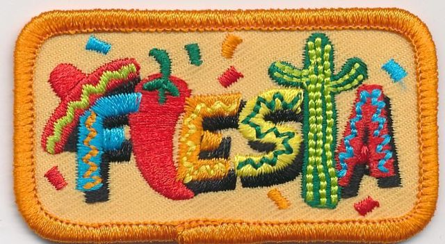 US $150 0 |girl boy cub FIESTA FUN Mexican Party Food patches crests badges  SCOUTS GUIDES-in Patches from Home & Garden on Aliexpress com | Alibaba