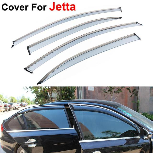 4pcs/lot Window Visors For Volkswagen VW Jetta 2015 Sun Rain Shield Stickers Covers Car Styling Awnings Shelters
