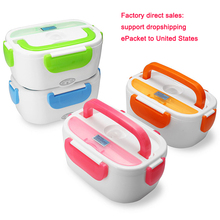 110V 220V 1.2L Portable Electric Heating Lunch Box Food Warmer with A Spoon for Kids students office worker Heated container dmwd 12v 24v mini rice cooker car truck soup porridge cooking machine food steamer electric heating lunch box meal heater warmer