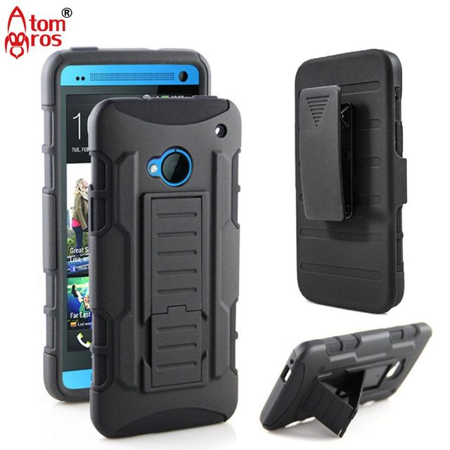 buy popular b0e6a 6529b US $4.99  Rugged Shockproof Armor Belt Clip Holster Heavy Duty Cover Case  For HTC One M7 Cases Phone Kickstand Shell Skin Fundas Capa-in Holsters &  ...