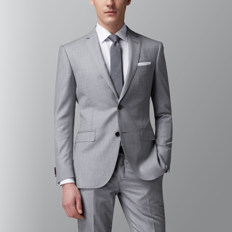 Aliexpress.com : Buy Light Grey Groom Suit Wedding Suits