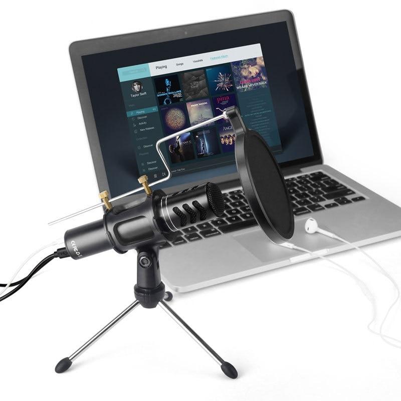 ak 8 mic studio audio sound recording usb microphone condenser microphone with microphone stand. Black Bedroom Furniture Sets. Home Design Ideas