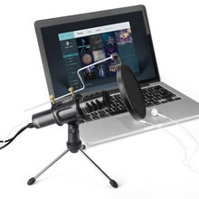 AK-8 Mic Studio Audio Sound Recording usb microphone Condenser Microphone with Microphone Stand for computer Laptop youtube sf 922b usb condenser sound microphone