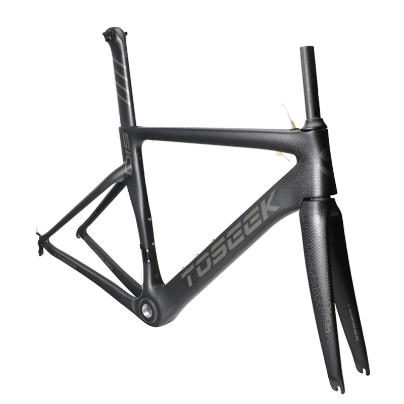 2018 carbon road bike frame cross carbon bicycle frame + fork+ headset 3k matte 48/51/54/56cm Bicicleta Carbon Bike Frame 53cm 55cm 58cm fixed gear bike frame matte black bike frame fixie bicycle frame aluminum alloy frame with carbon fork