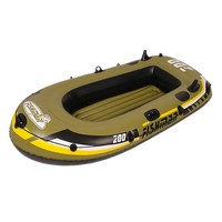 2 3 4 5 Person Rubber Inflatable Boat for Fishing Kayak Sail River Rafting Yacht Fishing Boat PVC Inflatable Rowing Boats