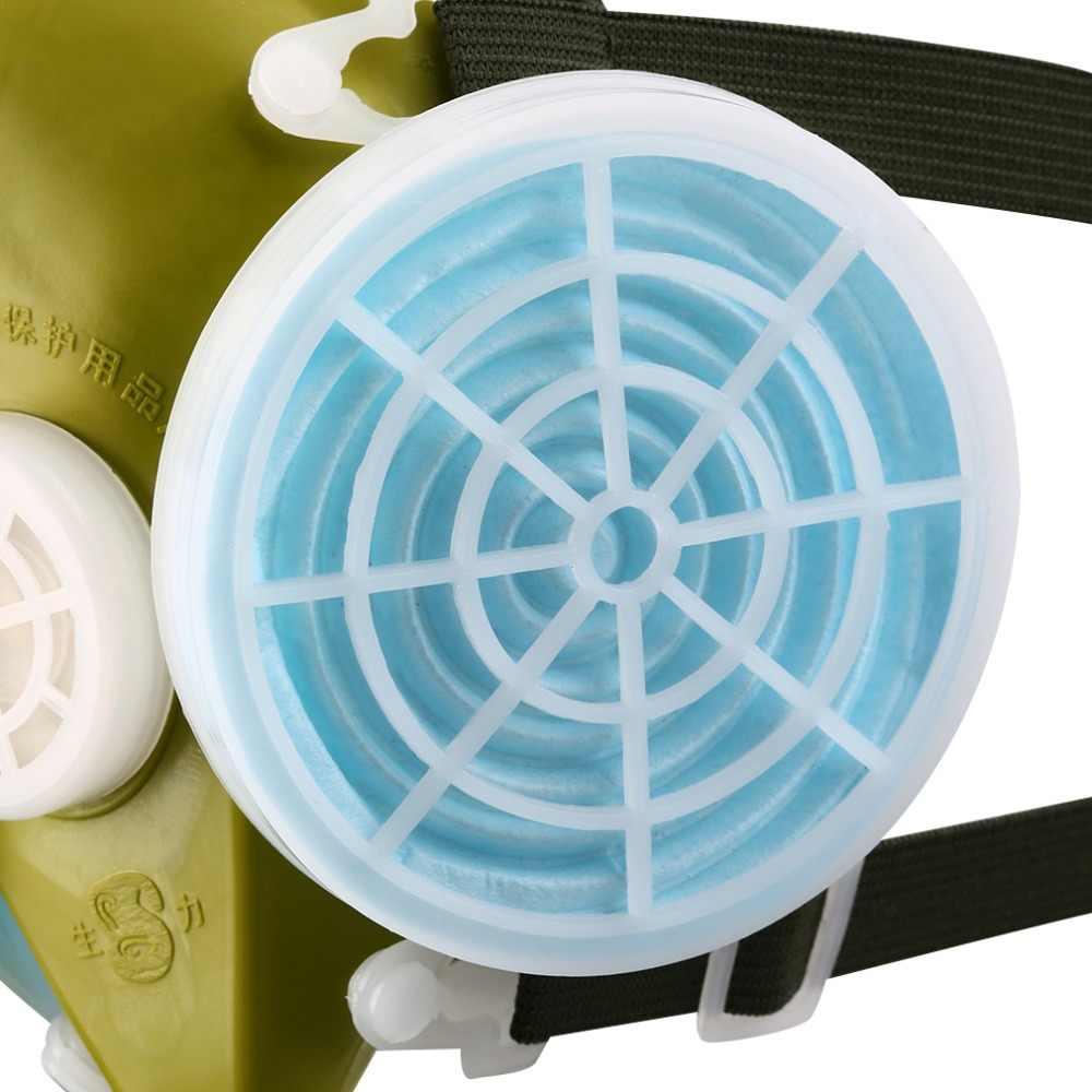 1 шт. двойной респиратор, газовая маска, фильтрация тумана, металлические пары, Анти-пыль, двойной химический спрей, краска, головной убор для сварки, шлифовка