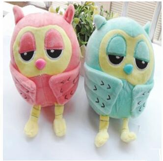 Плюшена играчка Сова, сладък анимационен подарък, детска любов, животински модел