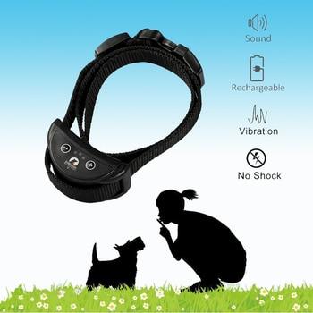 Rechargeable Anti Bark Collar vibration Bark collar humane no shock dog vibration collar no bark collar vibrate dog bark stop фото
