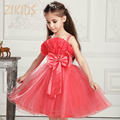 Flower Girl Dresses Wedding Dress for Party Summer Style Cute Straps Floral Mesh Children Brand Kids Clothes Sale 2016