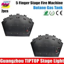 Freeshipping 2 Шт Красочные 5 Finger Этап Пожарной Машины 300 Вт Китай Поставщика DMX512 Управления ЖК-Экран 5 Сопла Огонь проектор