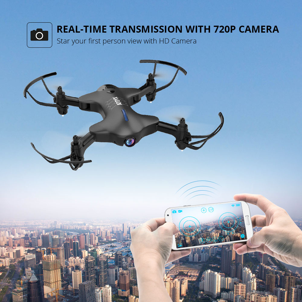 ATOYX Drone With Camera 4k Wide Angle Camera Drone HD RC Quadcopter FVP WIFI High 4CH Headless Altitude Hold Mode