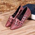2017 Spring New Women Genuine Leather Full Grain Leather Flats Original Handmade Vintage Shoes Ladies Casual Shoes Flats 1028-3