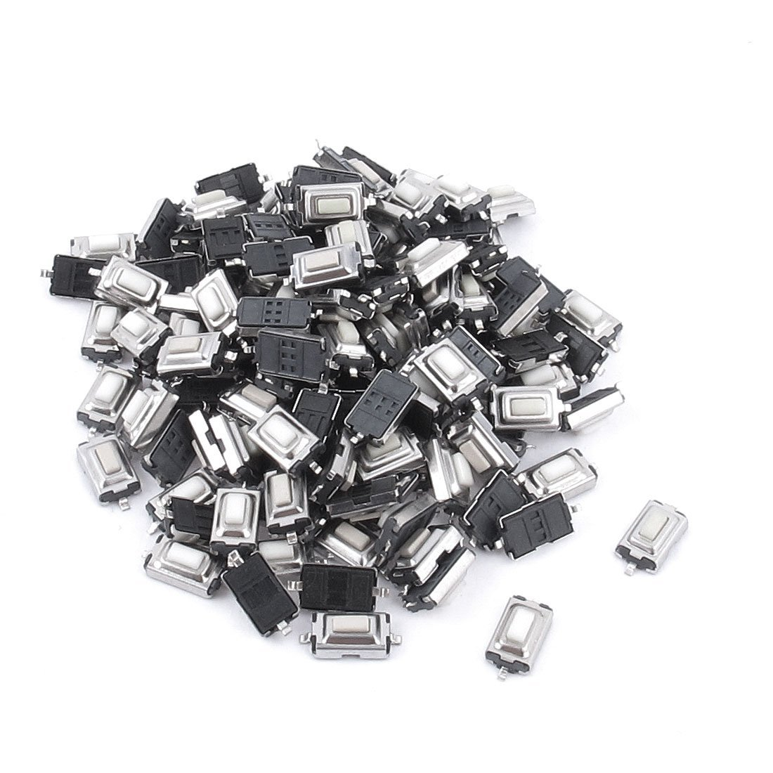 100pcs Touch Micro Switch 3X6X2.5MM 3*6*2.5 SMD White Button Head 100pcs 6x6x5mm light touch switch dip4 on off 6 6 5 touch button touch micro switch 6 6 5mm keys button dip 4pin free shipping