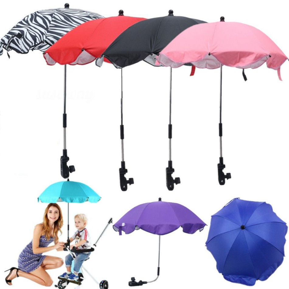 1 pc Colorful Baby Stroller Umbrella Kids Children Pram Shade Holder Mount for Sun Shade Baby Stroller Accessories High Quality ...