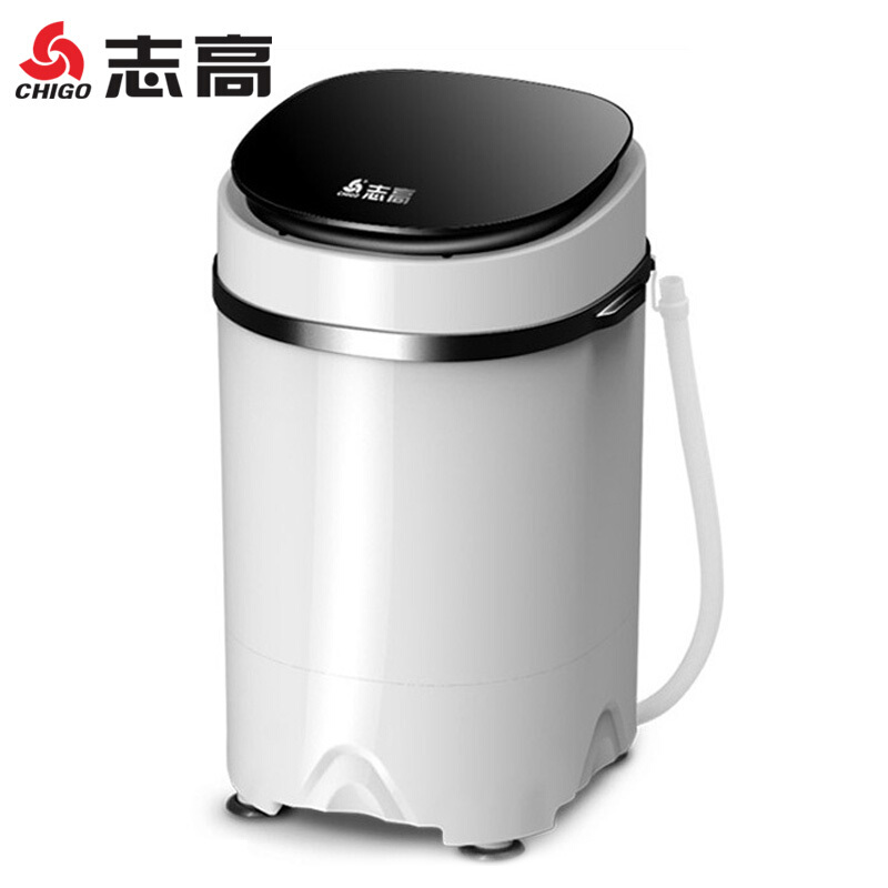 Portable Washing Machine 3.8 Kg Single-barrel Baby Fully-automatic Wheel Home Small Mini Washing Machine Black Mini Barril