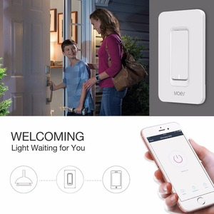 Image 4 - US WiFi Smart Wall Light Switch Dimmer Mobile APP Remote Control No Hub Required Works with Amazon Alexa Google Home IFTTT