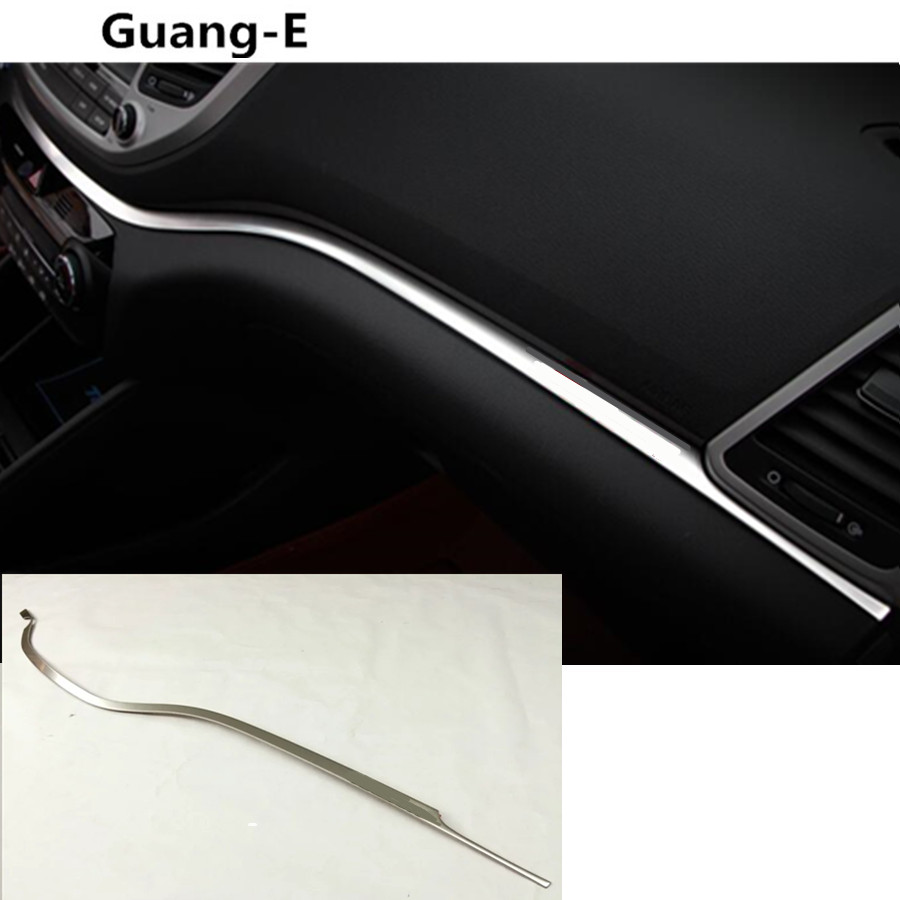 car inner cover trim Stainless steel Middle console control dashboard panel Glove box hoods For Hyundai Tucson 2015 2016 2017