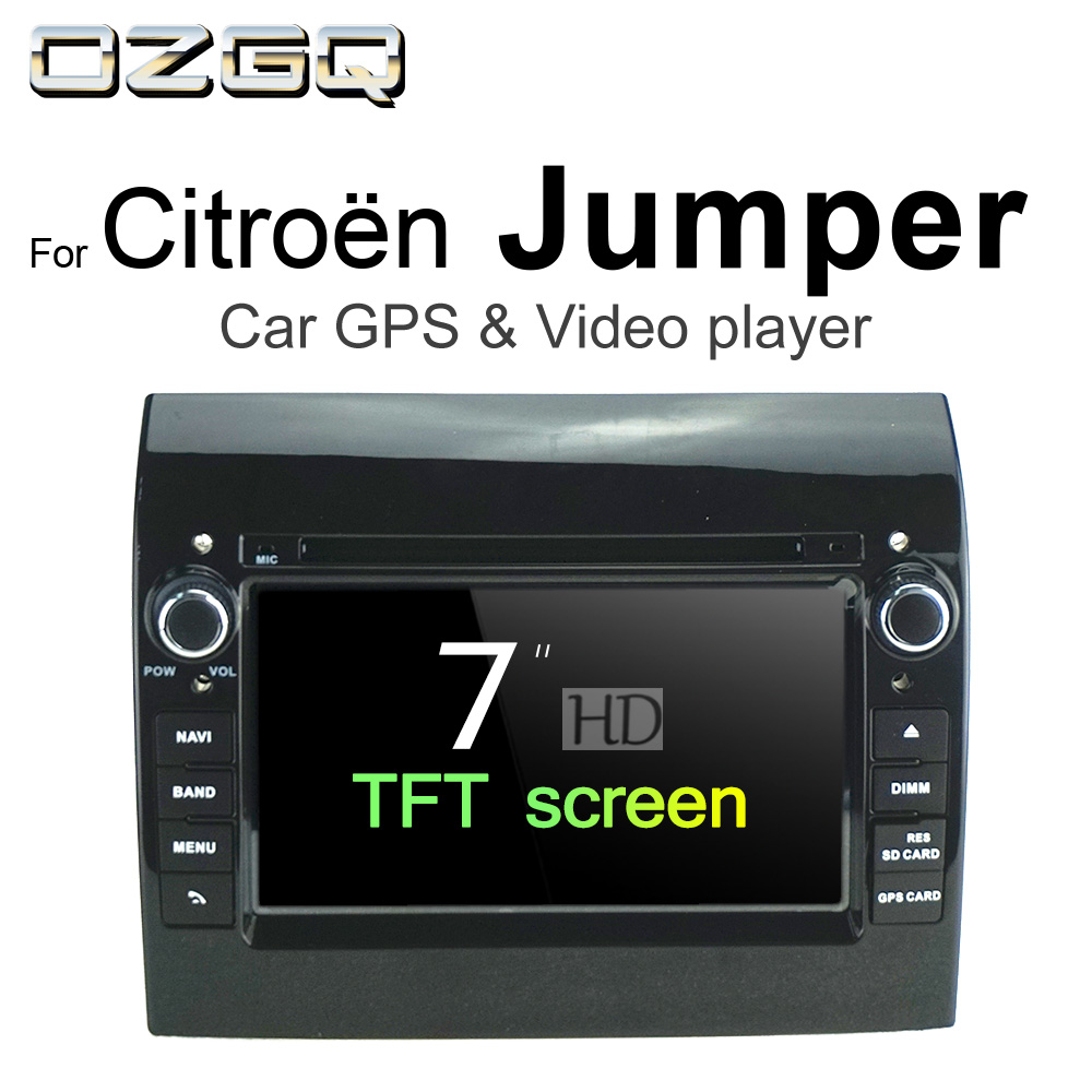 OZGQ Android 7.1 Car DVD Player For Citroen Jumper 2006-2018 HD Screen Auto GPS Navigation BT Radio TV Audio Video Music Stereo цена