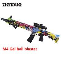 Zhenduo Oyuncak 308A M4 Oyuncak Tabanca Jel Topu Çocuk Açık Hobi Için Blaster Sniper Ücretsiz S