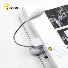 TSLEEN Book Reader Mini Flexible Bright Desk For Kindle Delicate Clip LED Light Clip-On Ebook Reading Laptop Stand Lamp Light(China)