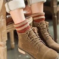 5 Pairs LOT Autumn Winter Women S Socks Fashion Warm Thick Wool Sokken Mixture ANGORA Cashmere