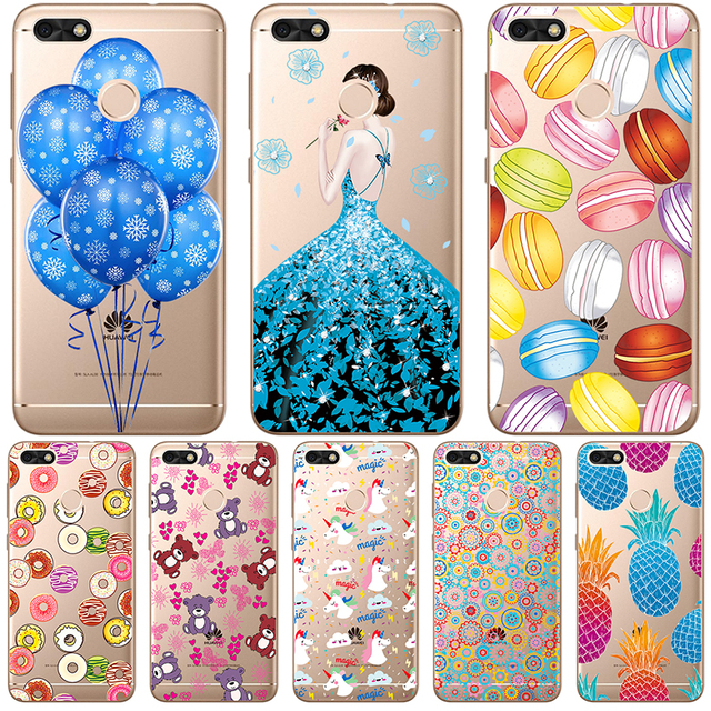 Phone Cases For Huawei Mate 10 Pro Case Lite Y6I II P Smart Cover Huawei Nova 2 Plus 2S Transparent Painted Silicon Soft TPU
