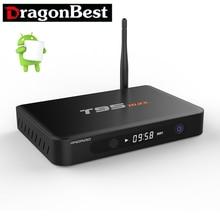 10 ШТ. T95max Металлический Корпус 2 ГБ 32 ГБ T95 макс S905 Amlogic Quad Core Andorid 5.1 TV BOX 2.4 Г/5 ГГц Dual WiFi BT4.0