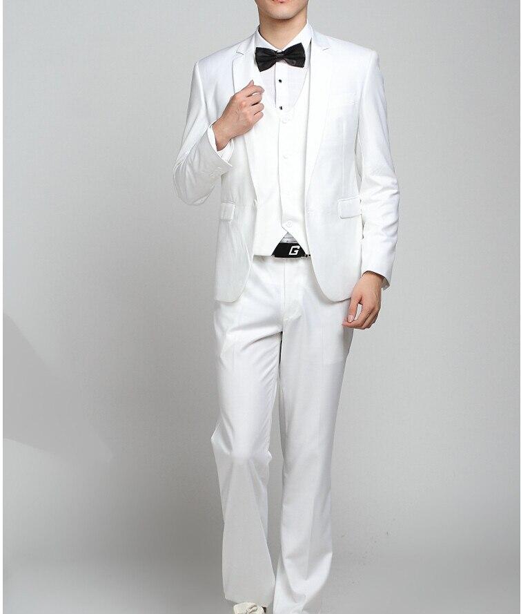 Los hombres baratos trajes de la marina de guerra Slim Fit Tuxedos - Ropa de hombre - foto 6