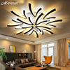 Remote Control Modern Ceiling Lights For Living Room Bedroom Hallway Home Ceiling Lamp Acrylic Aluminum Body