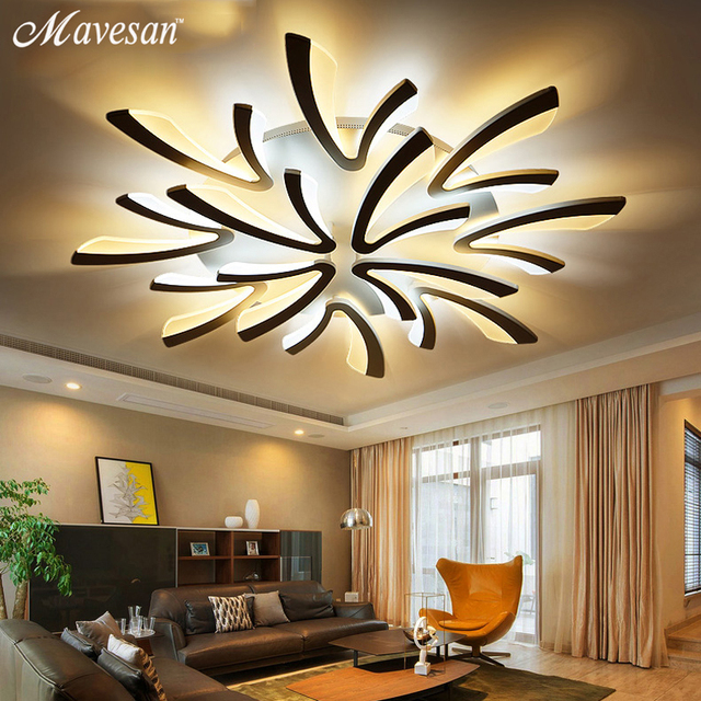 Remote Led Ceiling Lights Modern For Bedroom Dimmer Ceiling Lamps Acrylic  Aluminum Body Light Fixture For