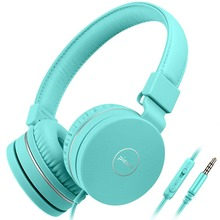 цены Kids Headphones Wired Toddler Headset Mic 85dB Volume Limiting Stereo Foldable Children TV Tablets Laptops Babies Boys Girls